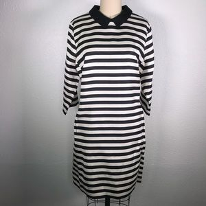 Lands End Canvas Striped A-Line Dress